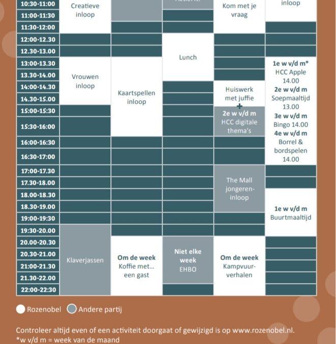 NIEUW: Weekplan activiteiten 2021/2022
